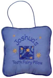 Blue Starry Night Tooth Fairy Pillow