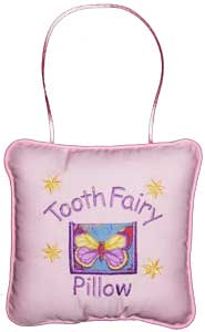 Blue Butterfly Tooth Fairy Pillow