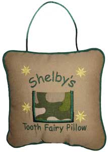 Camouflage Tooth Fairy Pillow