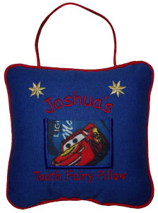 Disney Pixar Lightning McQueen Tooth Fairy Pillow