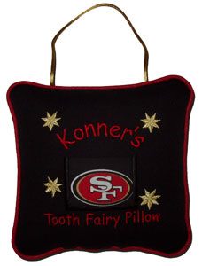 San Francisco 49ers Tooth Fairy Pillow