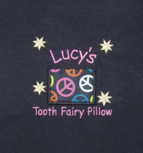 Peace Sign Tooth Fairy Pillow
