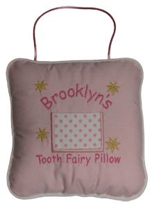 Pink Polka Dots Tooth Fairy Pillow