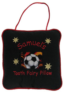 Soccer Flames Tooth Fairy Pillow